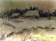 Huisje in de sneeuw  kopie