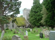 Kerk met graven